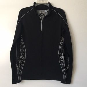 actra performance long sleeve pullover zip top